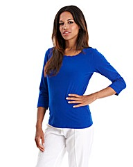 Joanna Hope Scalloped Edge Jersey Top