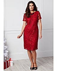 Joanna Hope Short-Sleeved Lace Dress