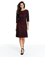 Joanna Hope Knitted Lace Contrast Dress