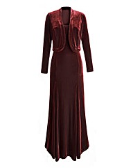 Joanna Hope Velour Maxi Dress and Bolero