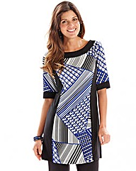 Joanna Hope Geo Print Jersey Back Tunic