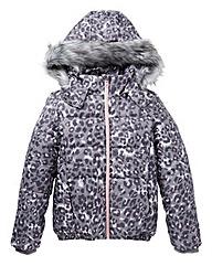 KD Girls Padded Leopard Print Coat