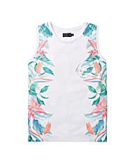 Label J Tropical Side Print Vest Long