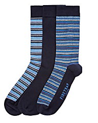 Firetrap 3 Pack Mixed Stripe/Plain Socks