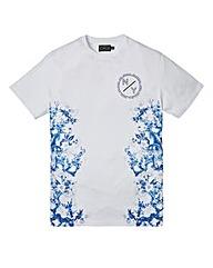 Label J Oriental Side Print Tee Long