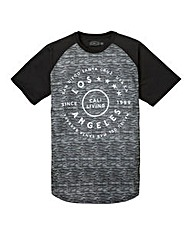 Label J Space Dye Print Baseball Tee L