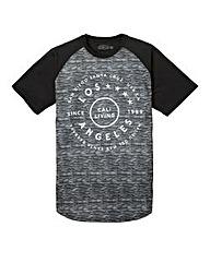 Label J Space Dye Print Baseball Tee L