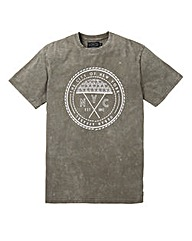 Label J Large Marble Wash Logo Tee L