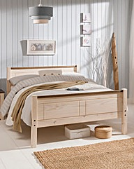 Oxford Double Bed with Quilted Mattress