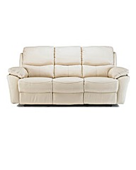Arezzo Leather 3 Seater Recliner Sofa