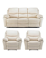 Arezzo 3 Seater Sofa & 2 Recliner Chairs