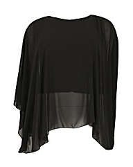 Feverfish Chiffon Cape Top