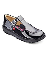Kickers Kick T Patent Girls Shoe Junior