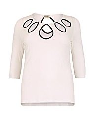 emily Contrast Keyhole Top