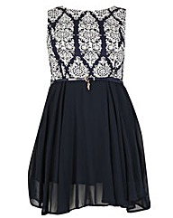 Samya Damask Skater Dress