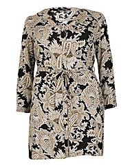Samya V-Neck Tunic Print Dress