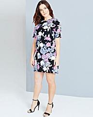 Girls On Film Floral Print Shift Dress