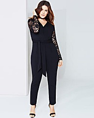 Girls On Film Lace V-Neck Jumpsuit