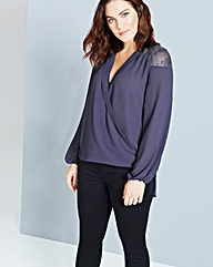 Girls On Film Blouse With Lace Inserts