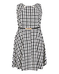 Samya Checked Belted Dress