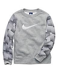 Nike Boys Brushed Fleece Sweatshirt