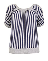 Samya Stripe Batwing Top