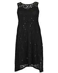 Samya Embellished Sequin Lace Dress