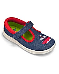 Chipmunk Boys Denim Nautical Canvas Shoe
