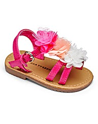 Girls Chatterbox Flower Sandals