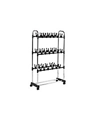 Rolling Shoe Stand - 36 Pairs