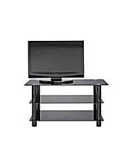 Black Glass 42 Inch Slimline TV Stand