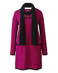 Jeffrey & Paula Jumper Dress & Scarf-L36