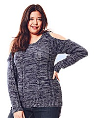 Jeffrey & Paula Cold Shoulder Jumper