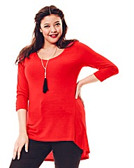 Jeffrey & Paula V-Neck Jersey Top