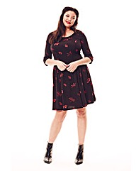 Jeffrey & Paula Print Skater Dress