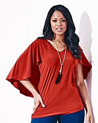 Grazia Cape Sleeve Jersey Top
