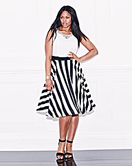 Lovedrobe Stripe Skirt Prom Dress