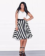 Lovedrobe Stripe Skirt Prom Dress