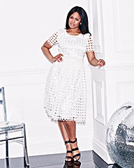 Lovedrobe Crochet Lace Midi Skater Dress