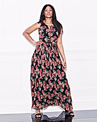 Lovedrobe Pleat Floral Maxi Dress