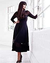 Jameela Jamil Ponte Midi Dress
