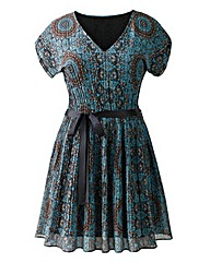 Martine McCutcheon Pleated Print Dress