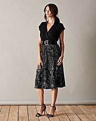 Scarlett & Jo Midi Wrap Dress with Belt