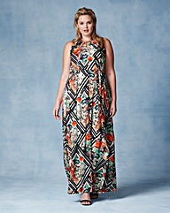 Grazia Print Maxi Dress