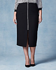 Grazia Zip Front Pencil Skirt