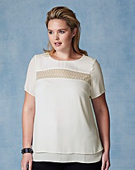 Grazia Lace Detail Crossover Back Blouse