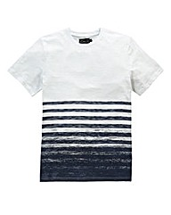 Label J Scratch Stripe T-Shirt Long