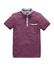 Bewley & Ritch Plane Red Marl Polo