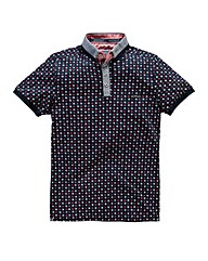 Bewley & Ritch Curtis Print Navy/RedPolo