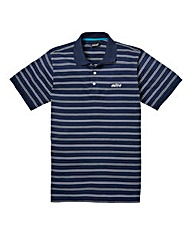Mitre Navy Stripe Polo Regular